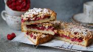 Фото рецепта Малиновый пирог на песочном тесте