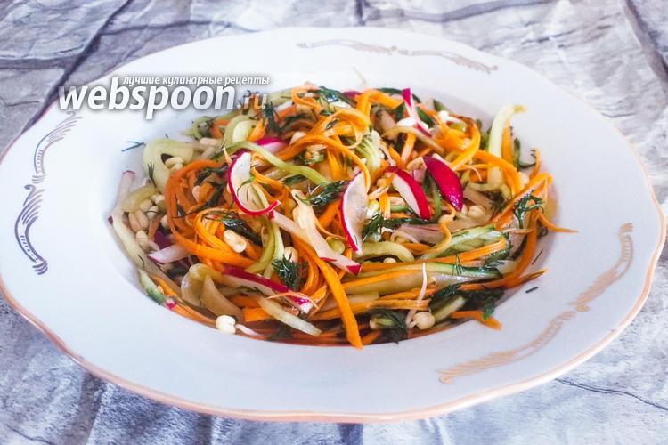 Фото Овощной салат с пророщенным машем