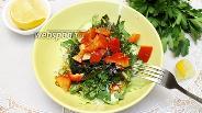 Фото рецепта Зелёный салат с авокадо и морской капустой