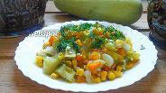 Фото рецепта Рагу из кабачков и кукурузы