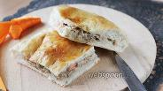 Фото рецепта Пирог с варёной кетой и рисом