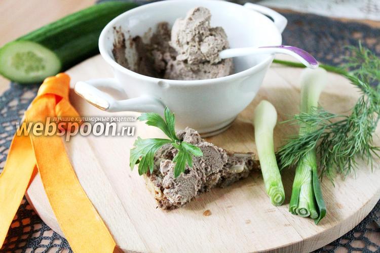 Фото Паштет из куриной печёнки с оливками и салом