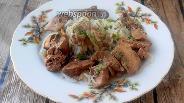 Фото рецепта Куриная печень со сметаной и ширатаки