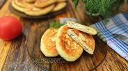 Фото рецепта Картофельные зразы с отварным куриным филе и зеленью