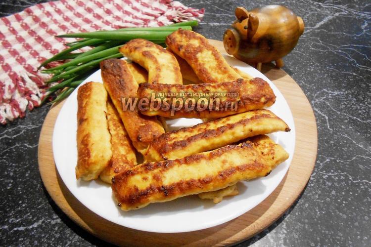 Фото Куриные палочки на сковороде