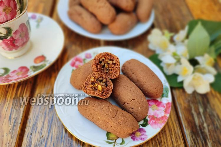 Фото Шоколадное печенье с сухофруктами и орехами