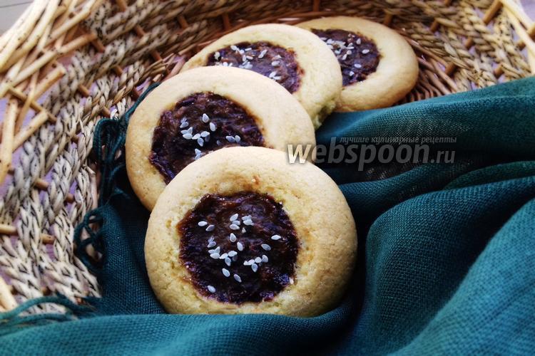 Фото Печенье с черносливом и кунжутом