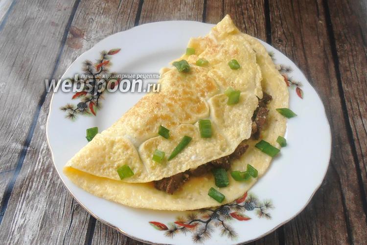 Фото Яичный блин с печенью и орехами