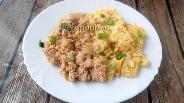 Фото рецепта Яйца скрэмбл с жареной икрой трески