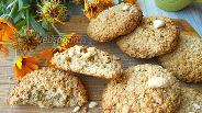 Фото рецепта Овсяное печенье без муки с орехами кешью