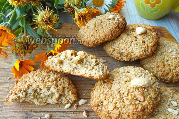 Фото Овсяное печенье без муки с орехами кешью