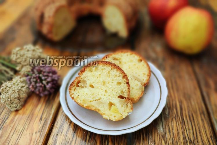 Фото Творожный кекс с яблоками