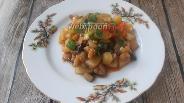 Фото рецепта Тушёные баклажаны и кабачки с заправкой из чили