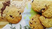 Фото рецепта Овсяное печенье с черносливом и семенами льна
