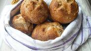 Фото рецепта Цельнозерновые булочки с орехами и семечками