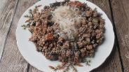 Фото рецепта Ширатаки с  баклажанами и фаршем