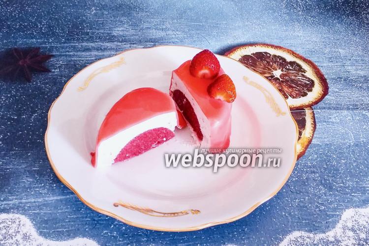 Фото Клубничное муссовое пирожное