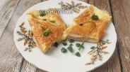 Фото рецепта Яичный конверт с беконом, сыром и зелёным луком