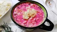 Фото рецепта Окрошка со свёклой и лавашoм на мацони
