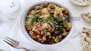Фото рецепта Салат c чечевицей и овощами