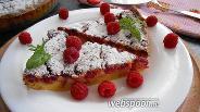 Фото рецепта Малиновое клафути на молоке