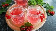 Фото рецепта Компот из красной смородины и мяты