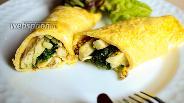 Фото рецепта Яичный блин с горчицей, авокадо, рукколой