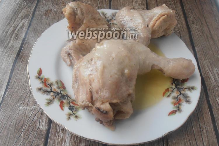 Фото Цыплёнок с маслом в горшочке