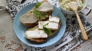 Фото рецепта Тосты из чиабатты с зелёным маслом