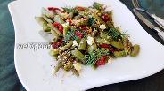 Фото рецепта Зелёная фасоль с сушёными томатами и грецкими орехами