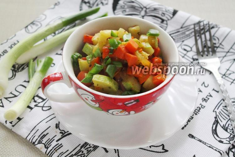 Фото Овощной гарнир с соевым соусом