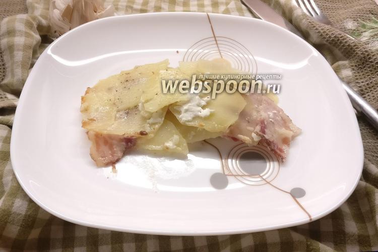 Фото Картошка с беконом в сметанном соусе