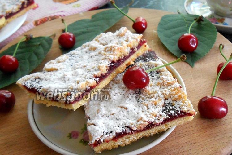 Фото Венское печенье с вишней