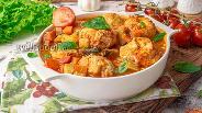 Фото рецепта Куриные фрикадельки в соусе из летних овощей