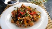 Фото рецепта Куриное филе с чесночными стрелками