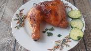 Фото рецепта Окорочка, запечённые с домашним томатным соусом