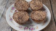 Фото рецепта Овсяные кексы без муки с шоколадом в СВЧ