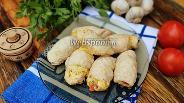 Фото рецепта Куриные рулетики с сыром, яйцом и помидором