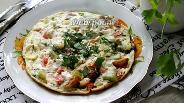 Фото рецепта Омлет с овощами и творогом