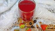 Фото рецепта Клубнично-смородиновый кисель