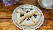 Фото рецепта Треугольное песочное печенье с вареньем