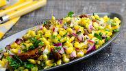 Фото рецепта Острый салат из кукурузы с вялеными помидорами