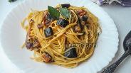 Фото рецепта Паста с баклажанами, фетой и мятой