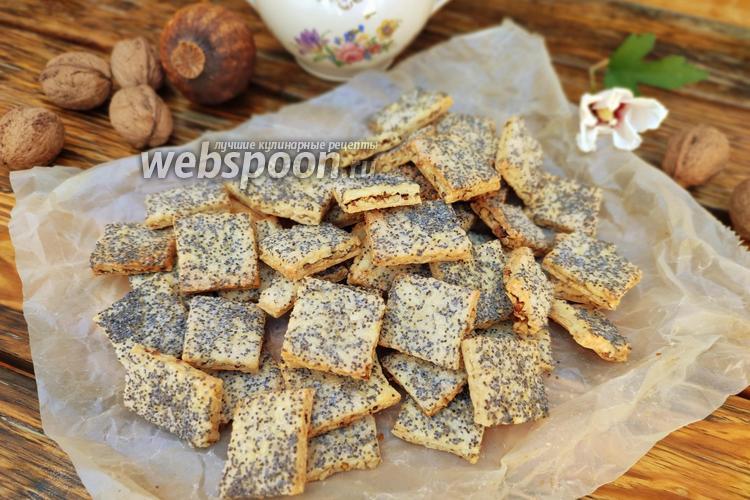 Фото Песочное печенье с орехами и маком