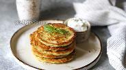 Фото рецепта Кабачковые оладьи с пармезаном