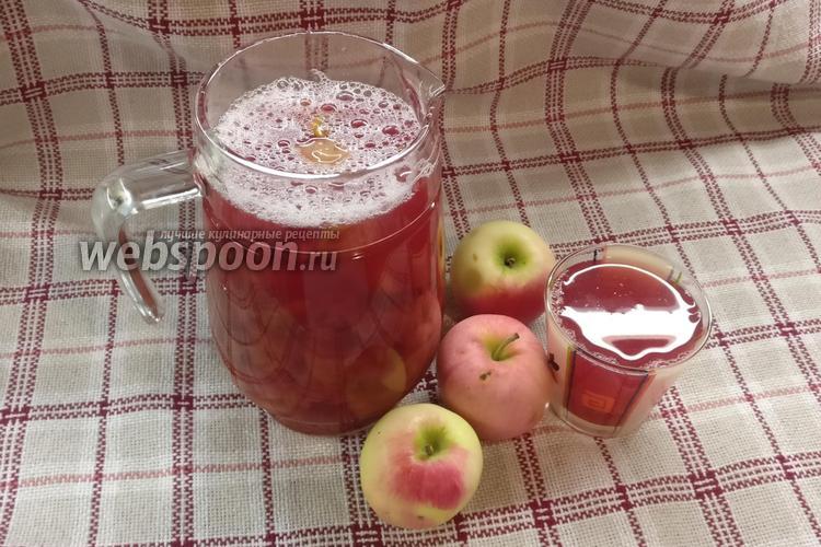 Фото Компот из дикой сливы и яблок