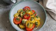 Фото рецепта Томаты с имбирной заправкой