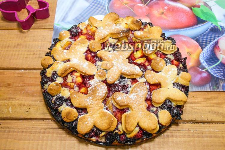 Фото Абрикосово-вишневый пирог