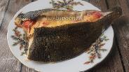 Фото рецепта Камбала, фаршированная помидорами и сыром