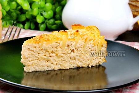 Мясная шарлотка с картофелем. Видео видео рецепт